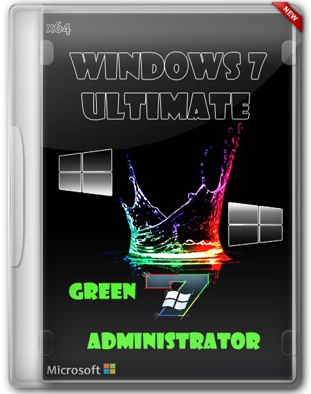 Windows 7 x64 Ultimate SP1 Green Administrator
